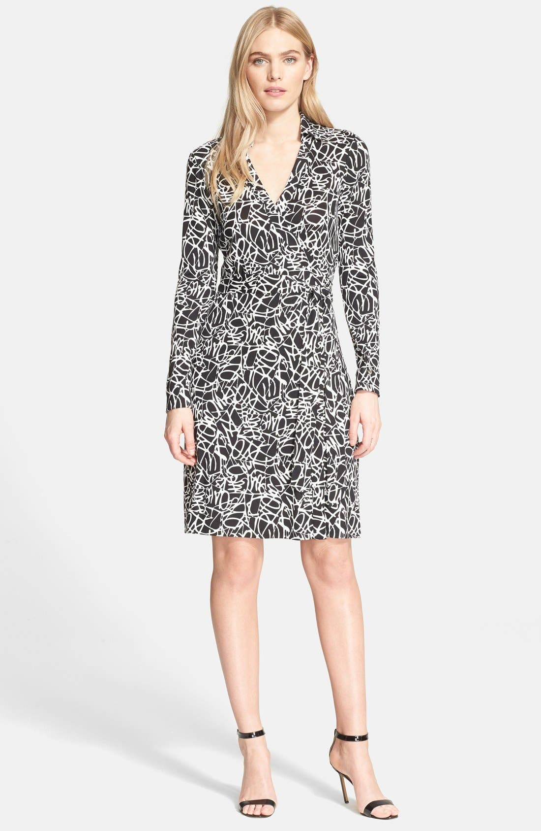 Main Image - Diane von Furstenberg 'New Jeanne Two' Print Silk Wrap Dress