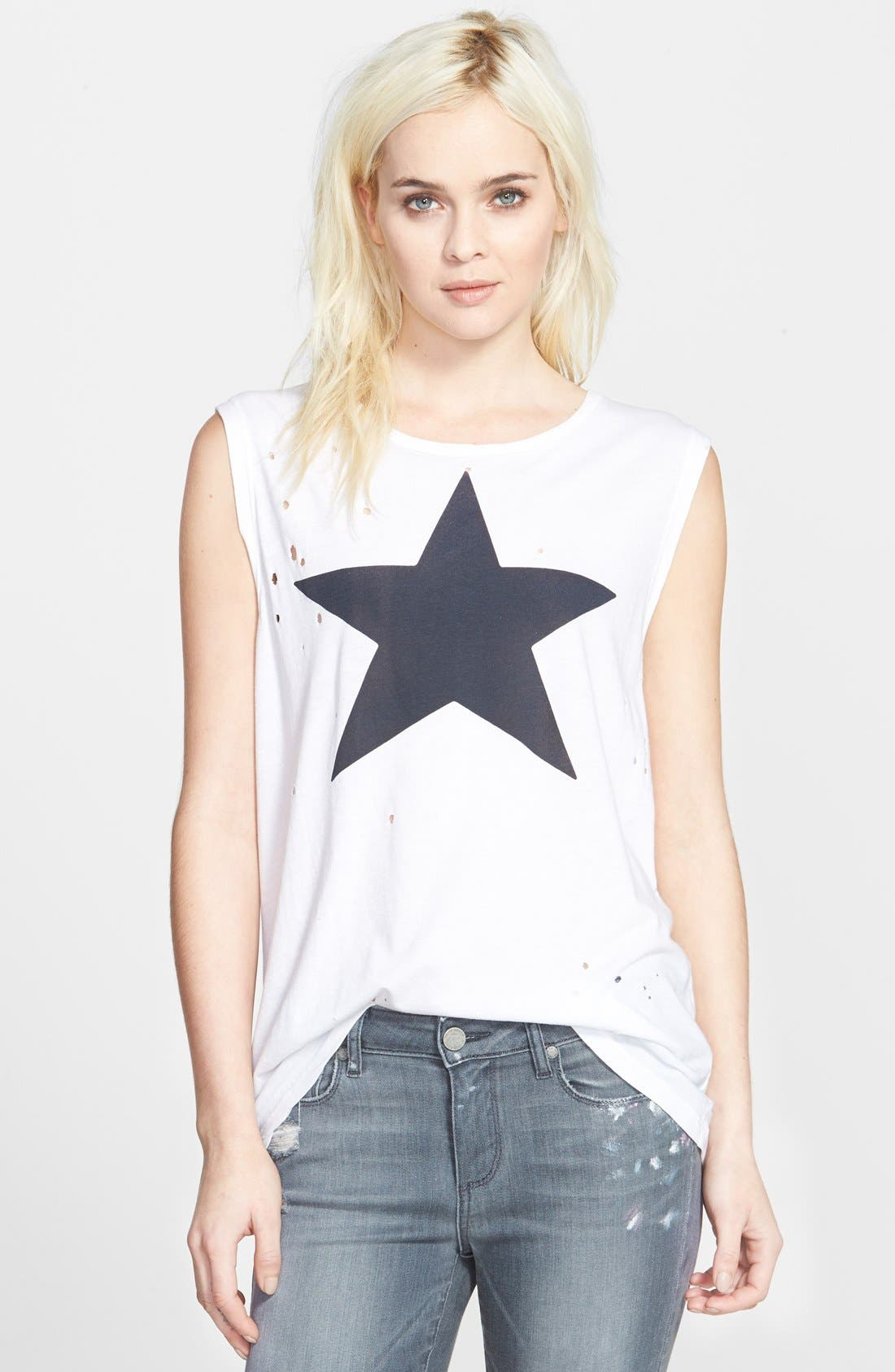 Alternate Image 1 Selected - Sundry Star Muscle Tank