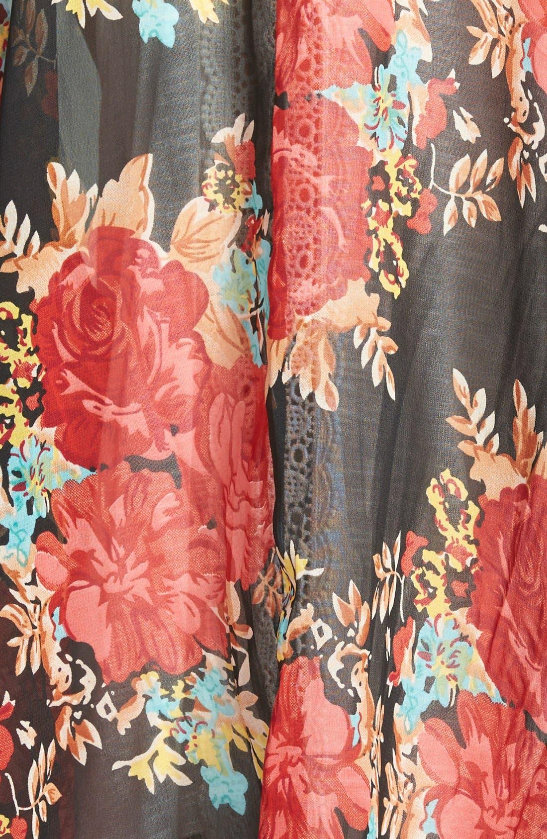 Alternate Image 3  - Band of Gypsies Mix Print Kimono
