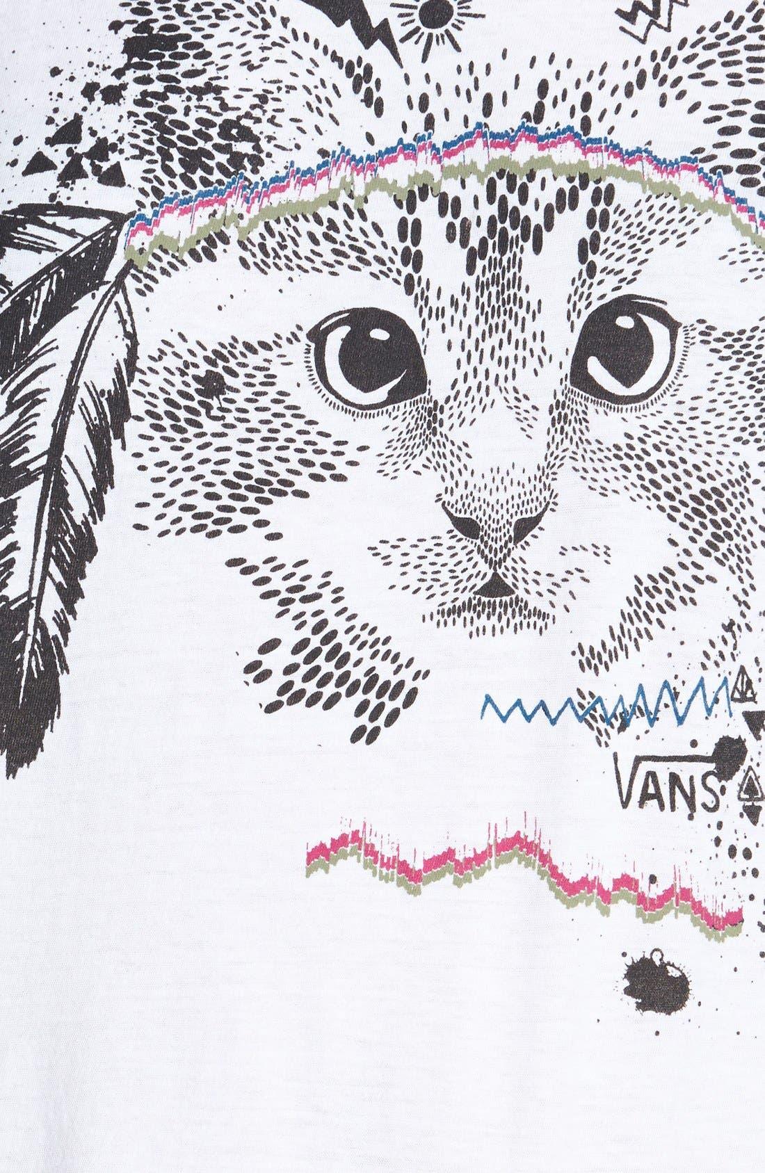 Alternate Image 3  - Vans Cat Graphic Tee (Juniors)
