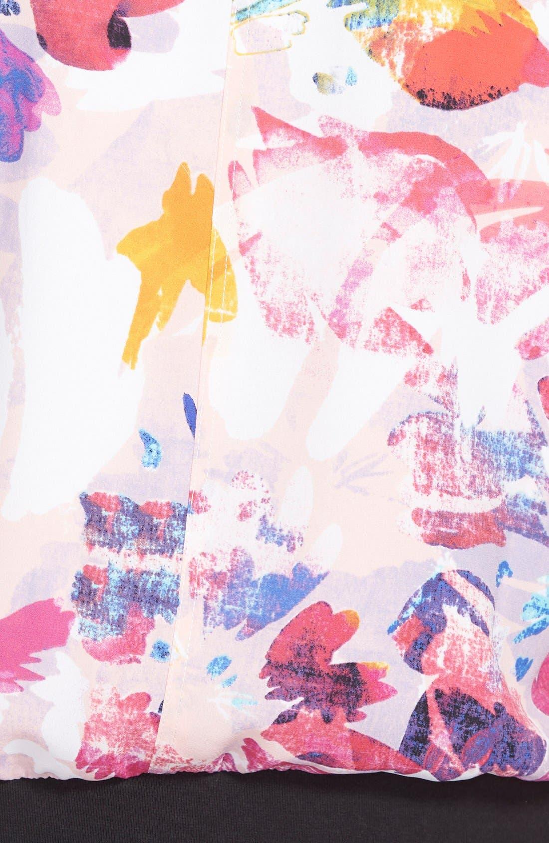 Alternate Image 3  - NYDJ Floral Print Bomber Jacket