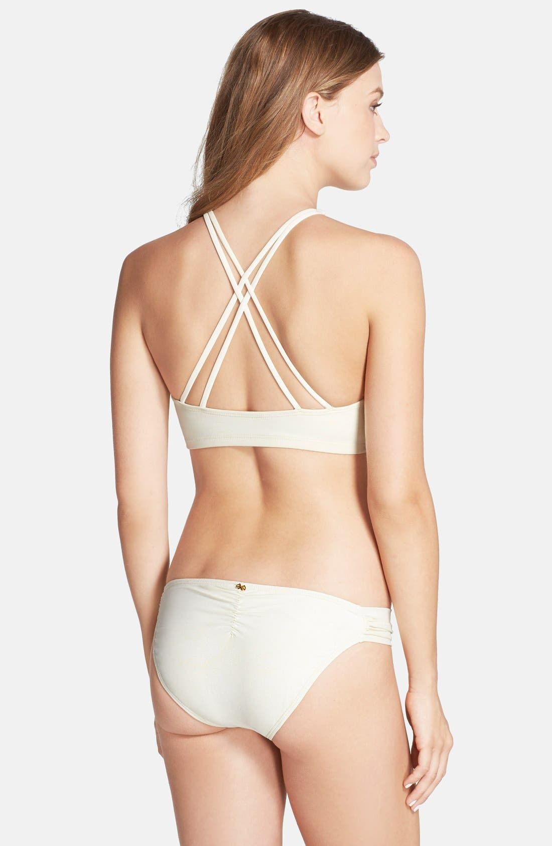 Alternate Image 4  - PilyQ 'Gypsy' Embellished Cutaway Bikini Top