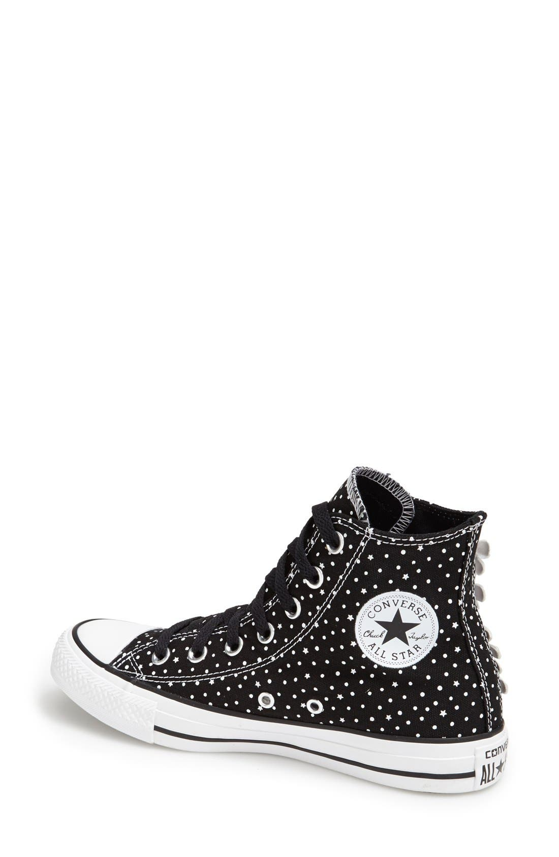Alternate Image 2  - Converse Chuck Taylor® All Star® 'Floral Polka Dot' High Top Sneaker (Women)