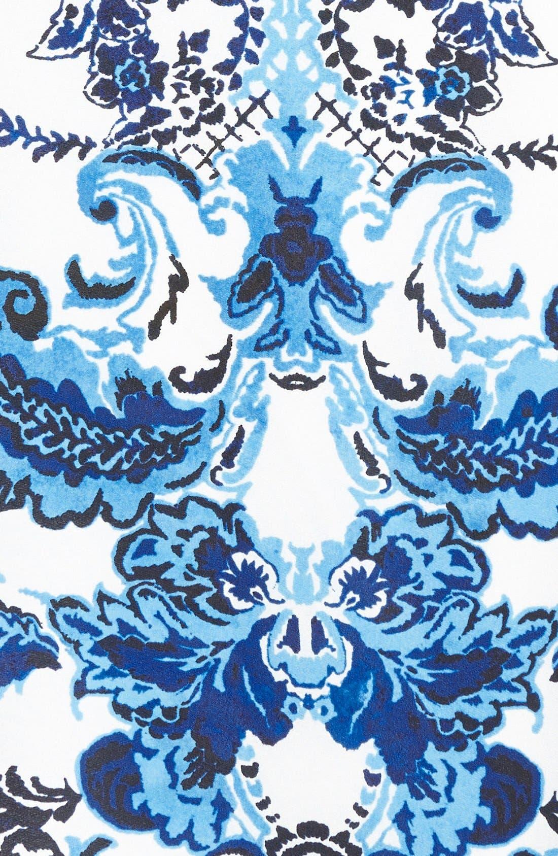 Alternate Image 3  - Eliza J Placed Print Crêpe de Chine Maxi Dress (Plus Size)