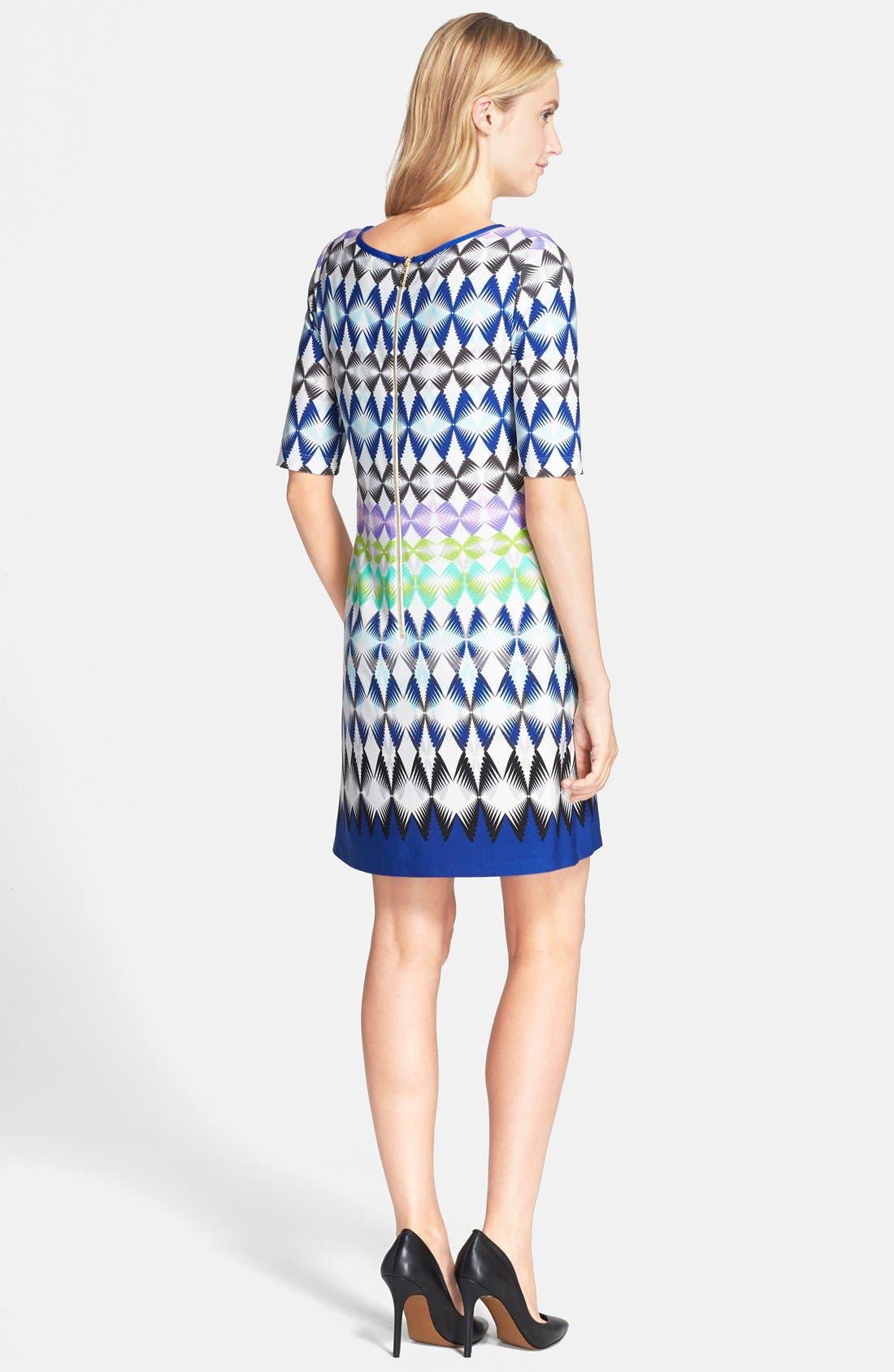 Alternate Image 2  - Eliza J Print Jersey Shift Dress (Regular & Petite)