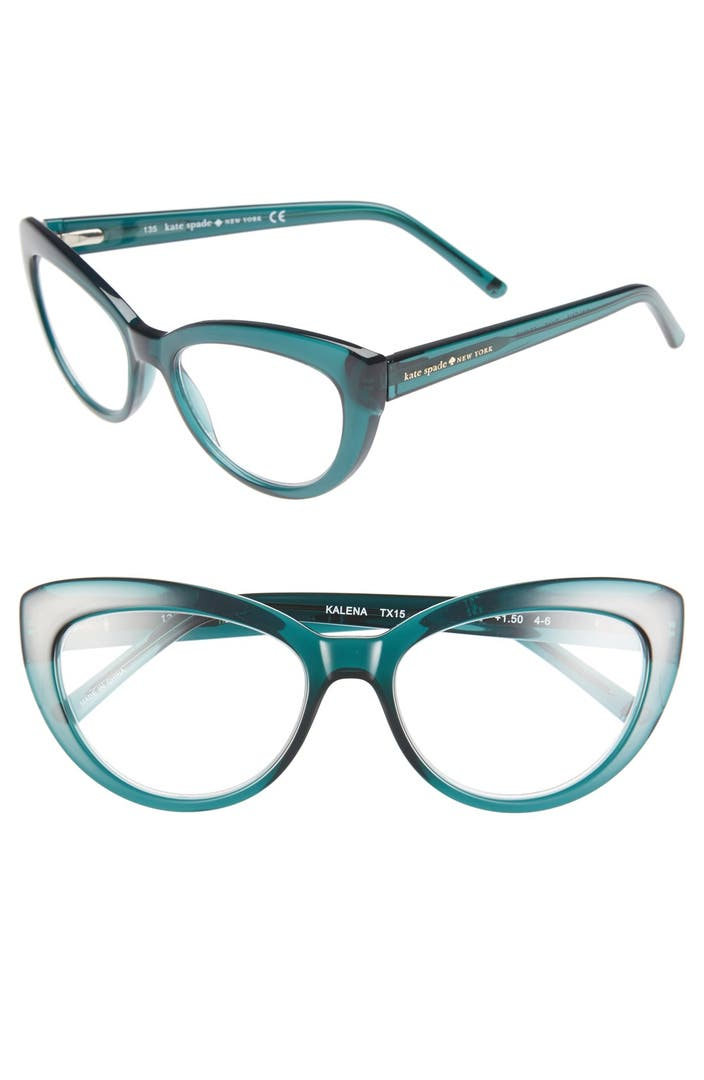 Plastic Glasses Frames Peeling : kate spade new york kalena 53mm cat eye reading glasses ...