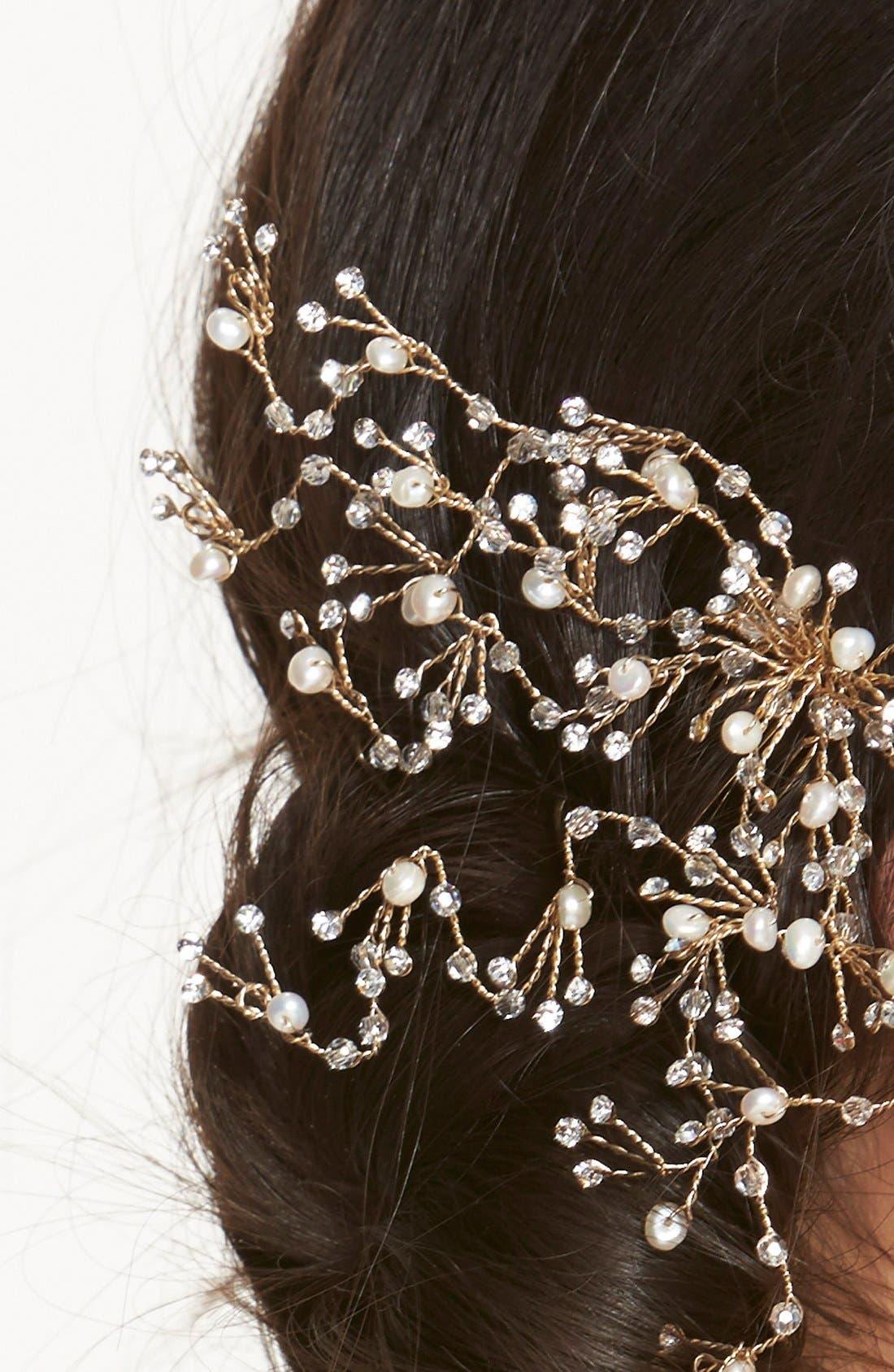 Alternate Image 2  - twigs & honey Crystal & Pearl Comb