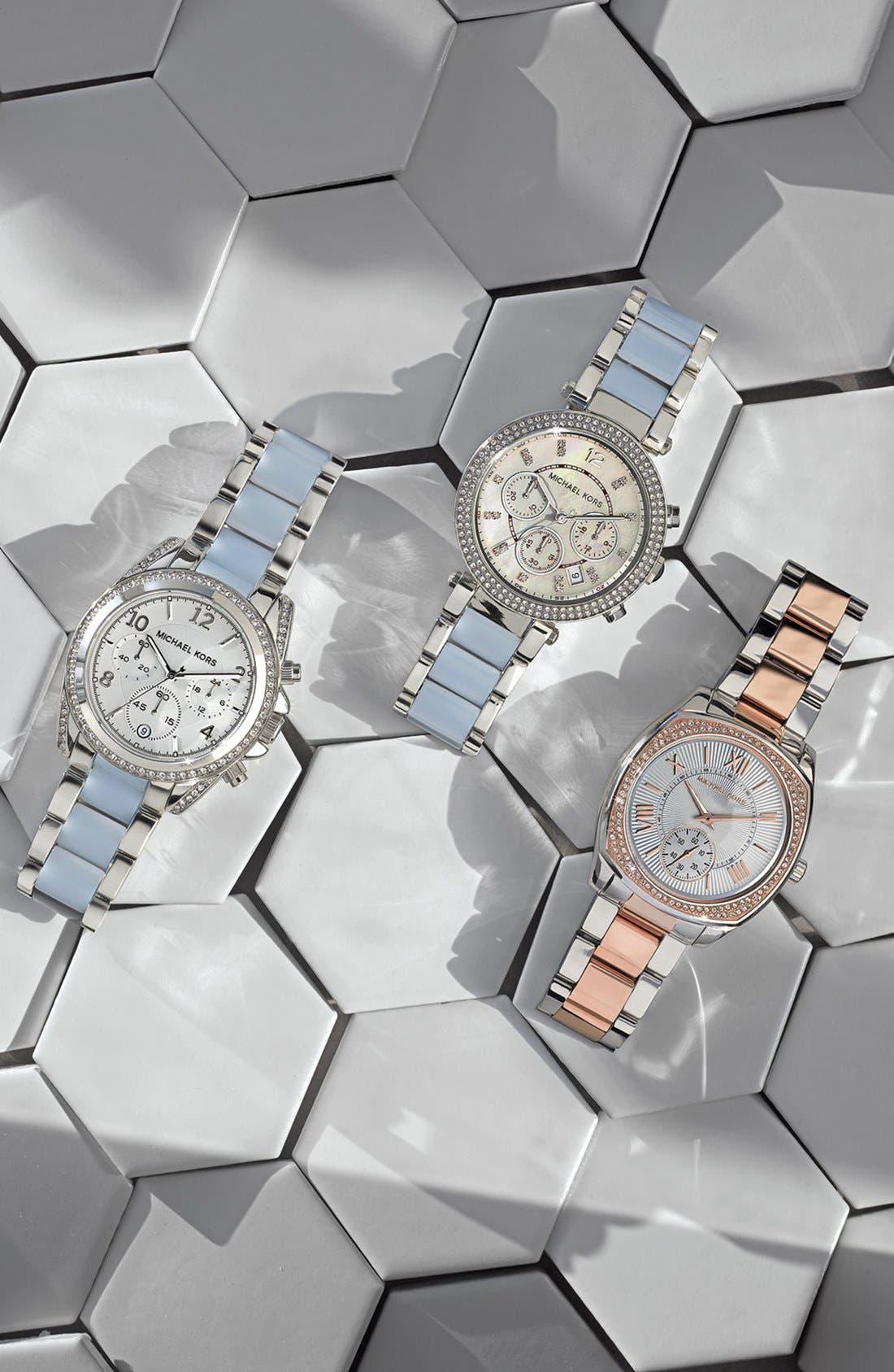 Alternate Image 3  - Michael Kors 'Bryn' Crystal Bezel Bracelet Watch, 40mm