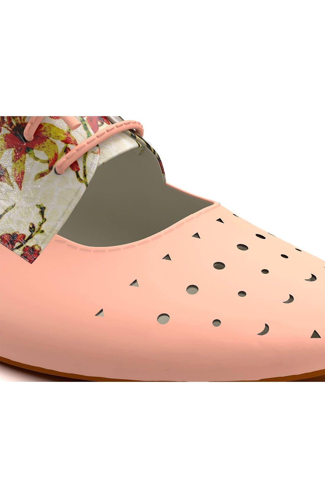 Alternate Image 6  - Shoes of Prey Floral Print Cutout Oxford (Women)