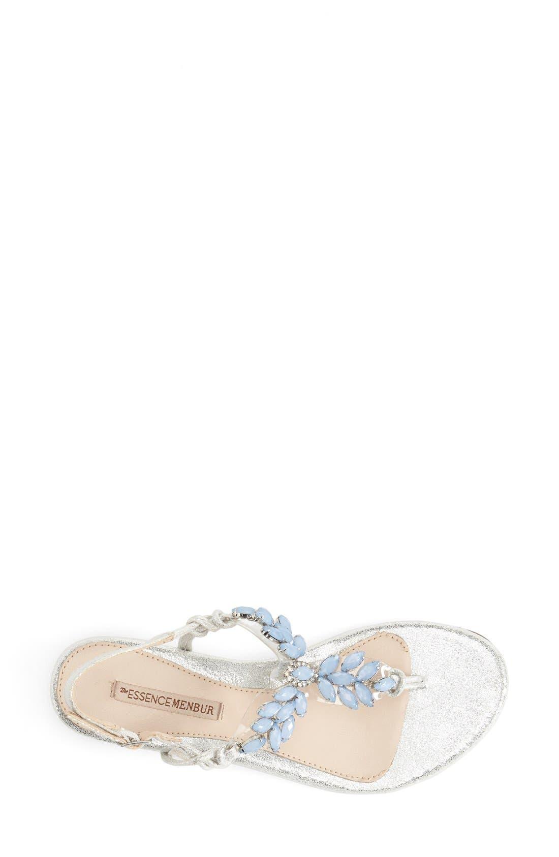 Alternate Image 3  - Menbur 'Dolara' Crystal Embellished Satin Thong Sandal (Women)