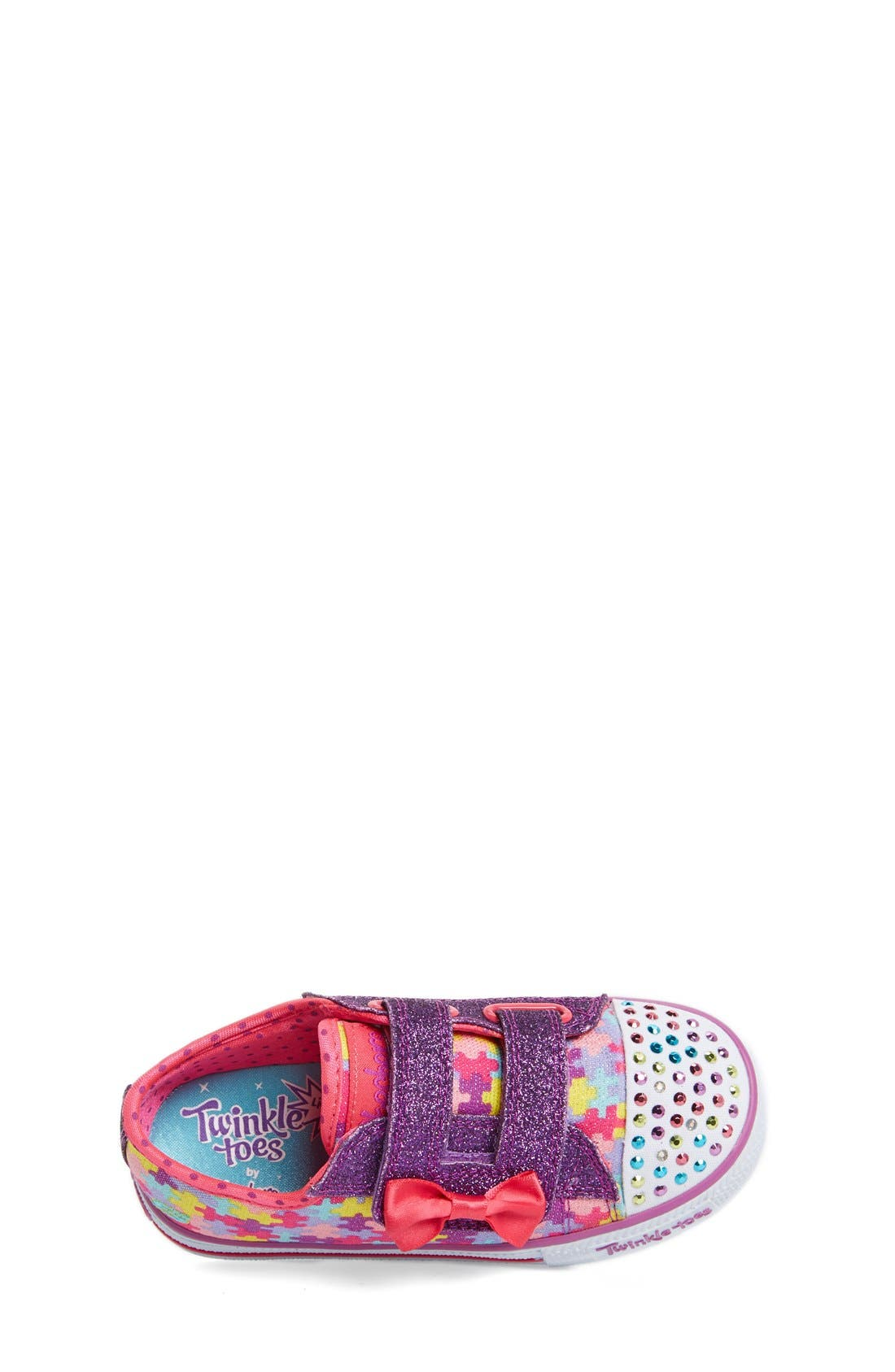 Alternate Image 6  - SKECHERS 'Twinkle Toes - Shuffles Jumpin Jigsaw' Light-Up Sneaker (Toddler)
