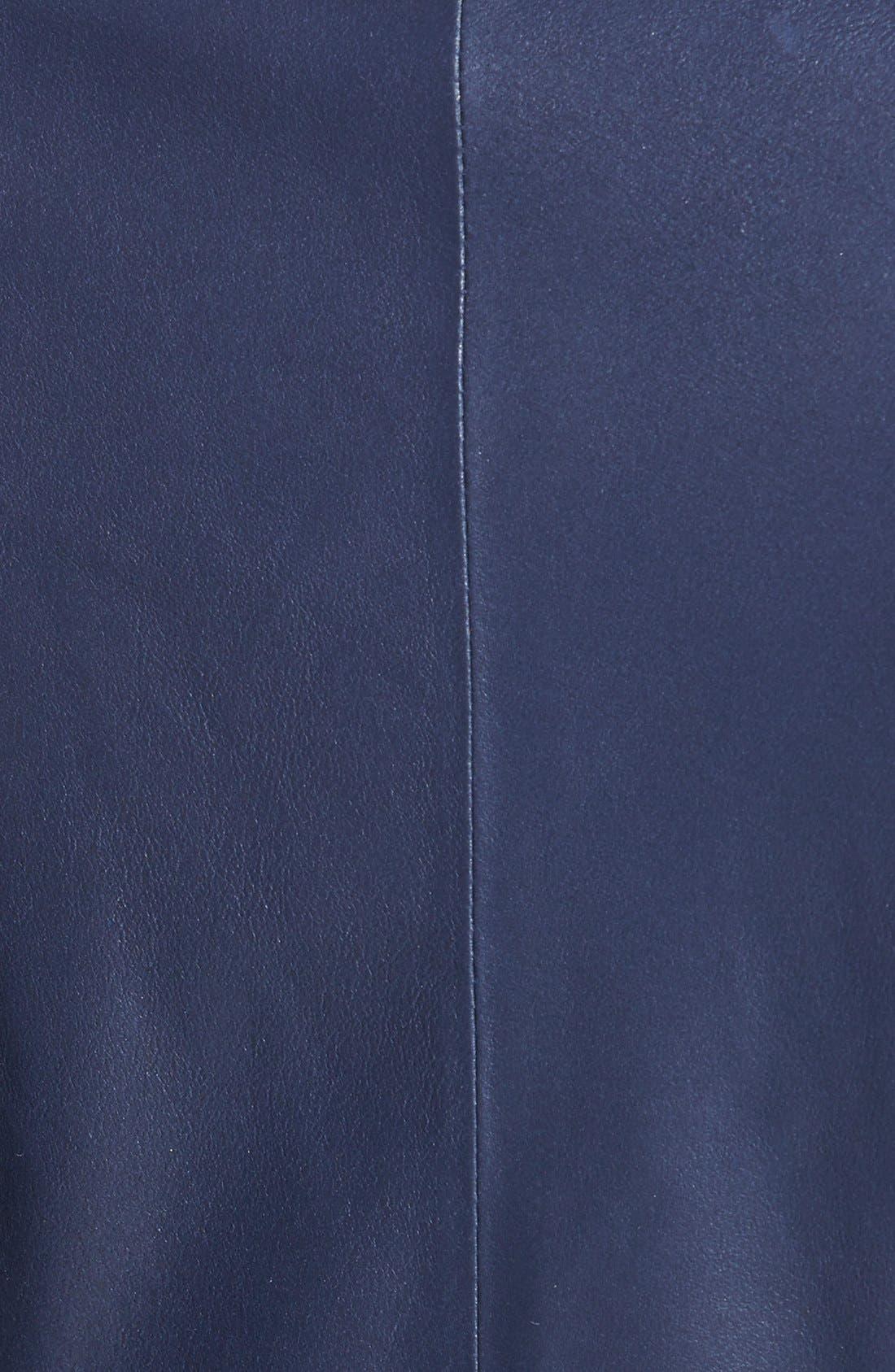 Alternate Image 3  - Elie Tahari 'Constance' Drape Front Leather Jacket
