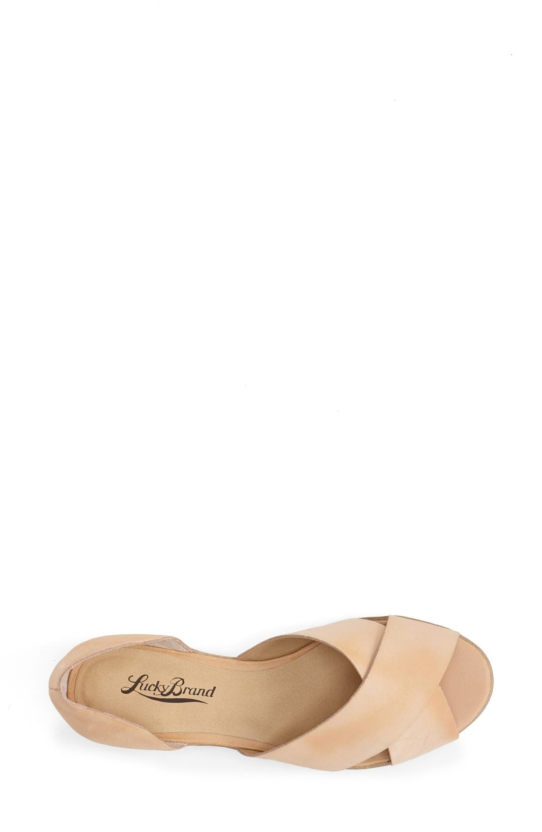 Alternate Image 3  - Lucky Brand 'Silla' Leather Cross Strap Sandal (Women)
