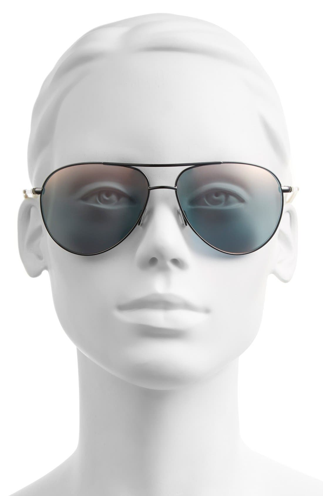 Alternate Image 2  - Nike 'Vintage MDL 82' 61mm Performance Aviator Sunglasses