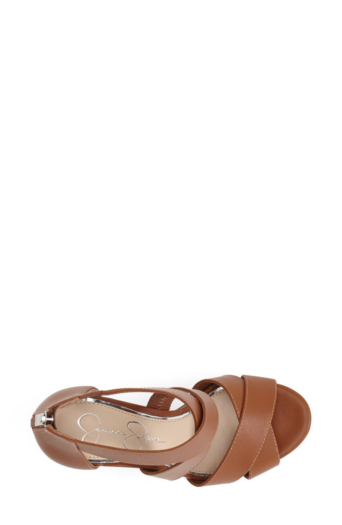 Alternate Image 3  - Jessica Simpson 'Jadyn' Strappy Wedge Sandal (Women)
