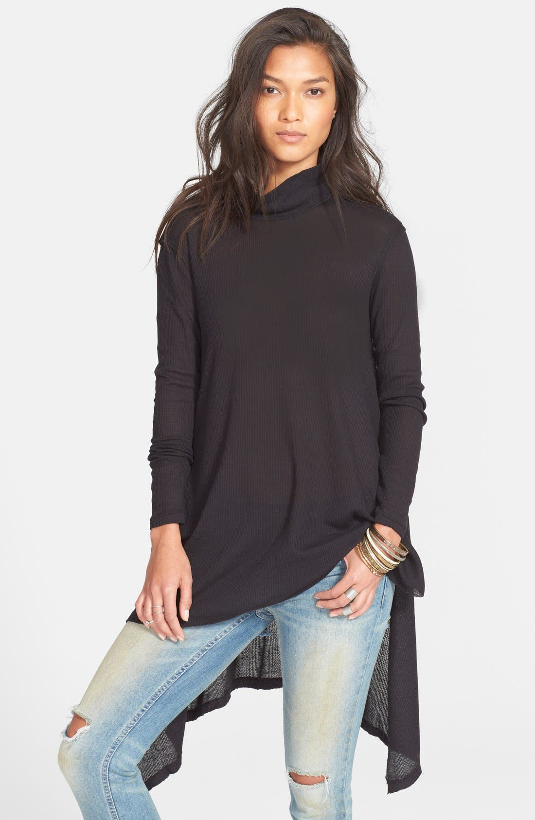 Alternate Image 1 Selected - Free People Asymmetrical Tunic Top