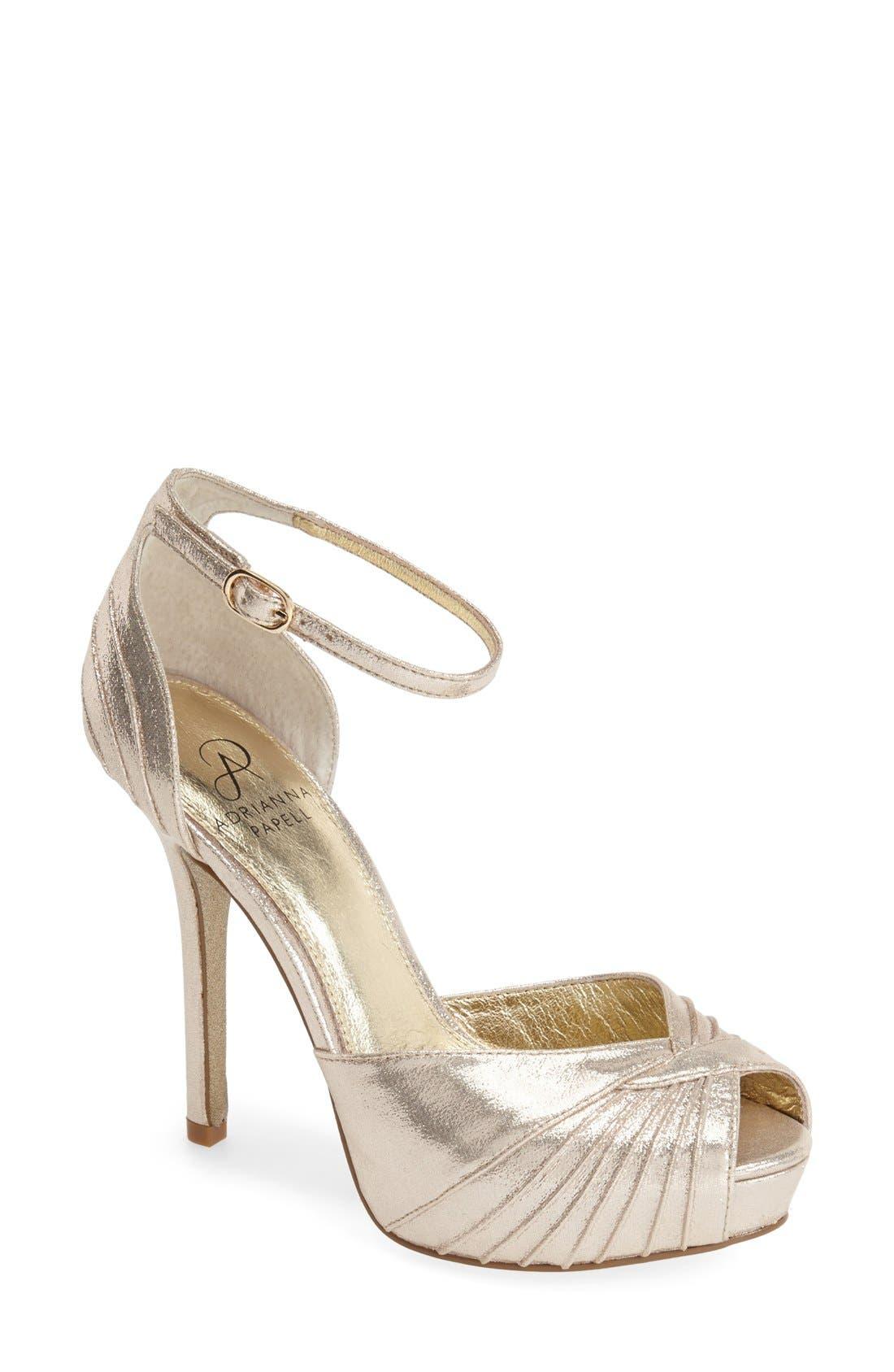 Alternate Image 1 Selected - Adrianna Papell 'Rebecca' Platform Sandal (Women)