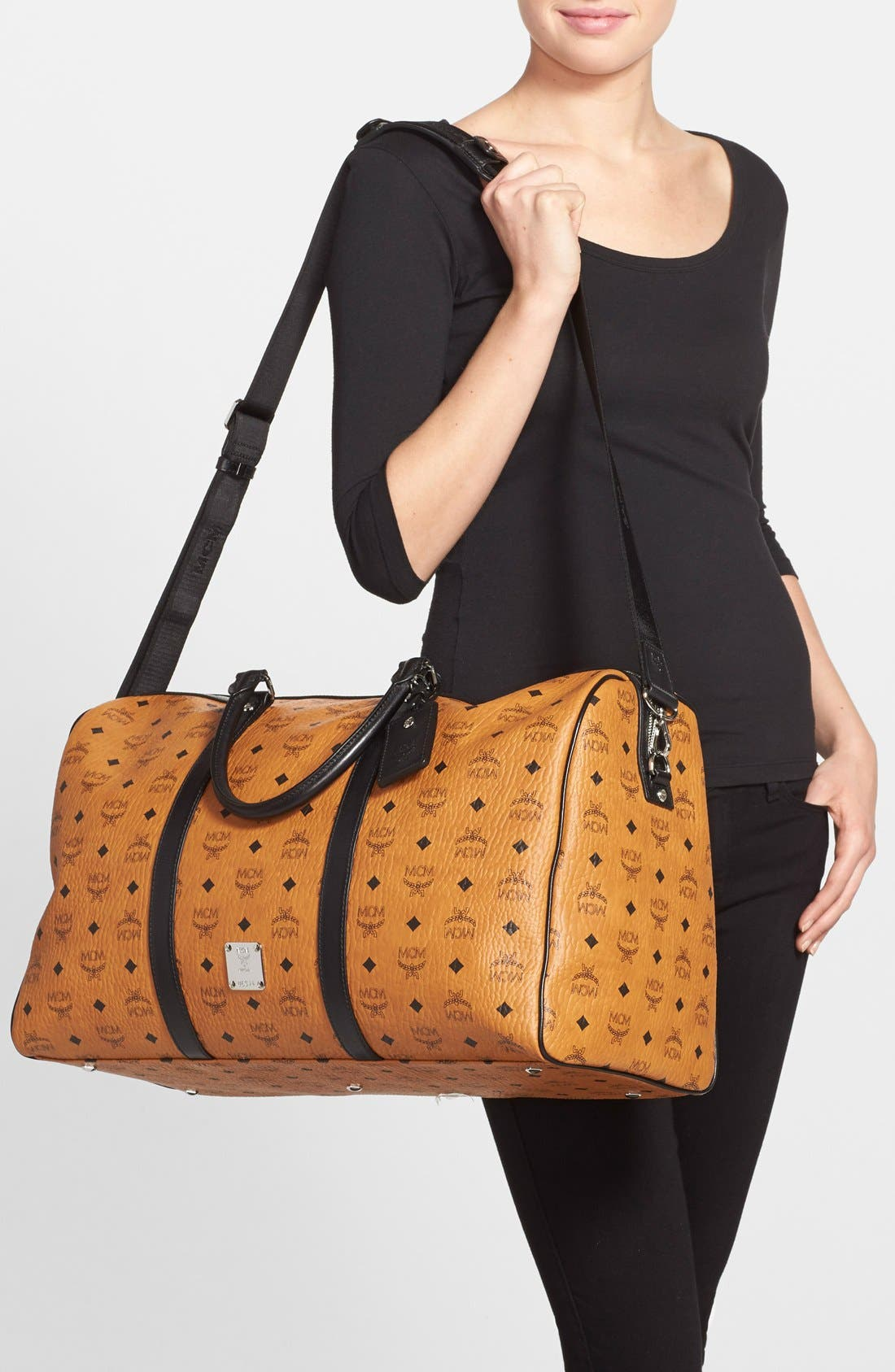 Alternate Image 2  - MCM 'Color Visetos - Large' Weekend Duffel Bag