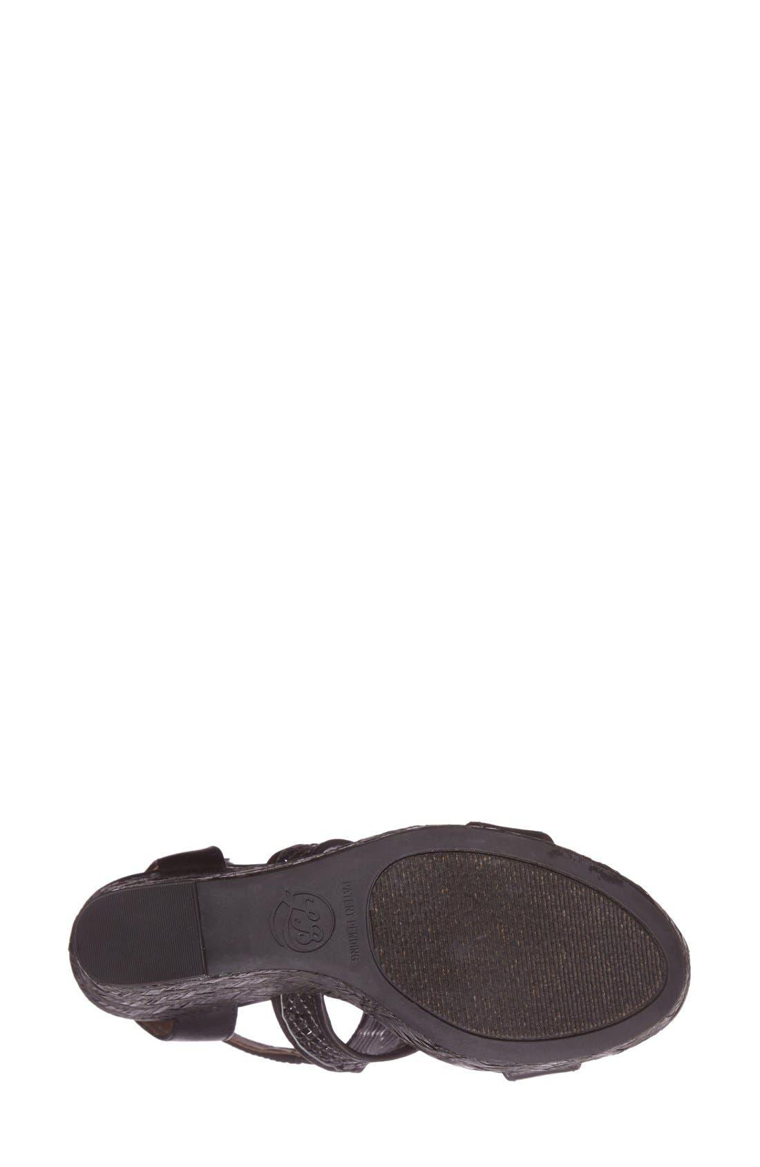 Alternate Image 4  - Lucky Brand 'Laffertie' T-Strap Wedge Sandal (Women)