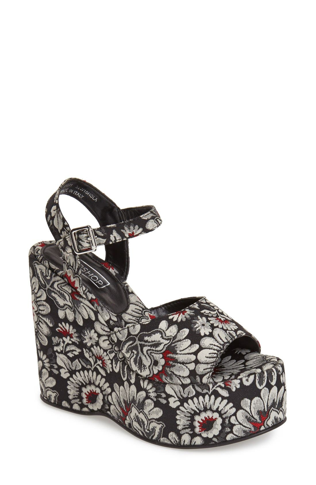 Alternate Image 1 Selected - Topshop 'Wallflower' Wedge Sandal (Women)