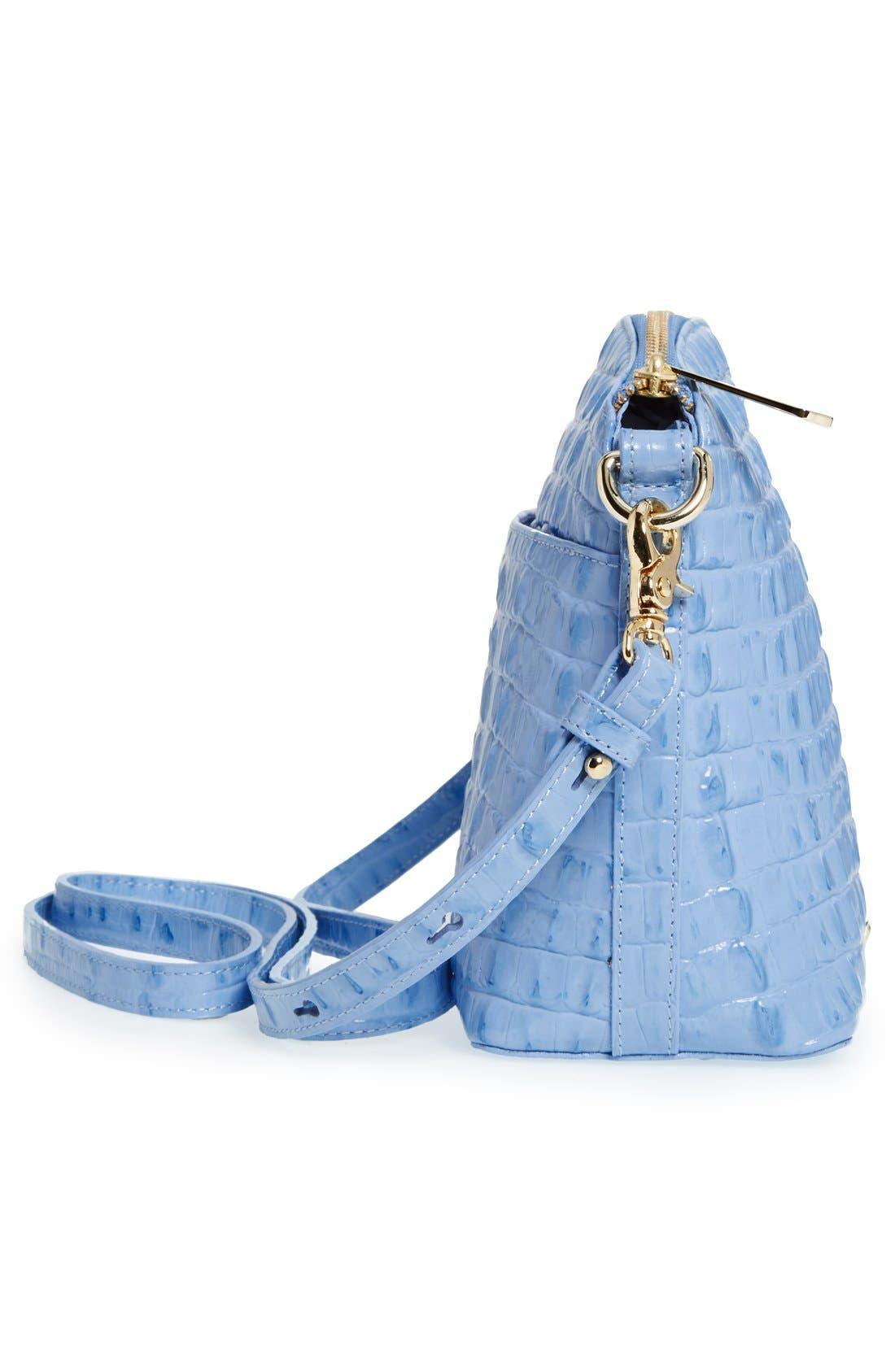 Alternate Image 5  - Brahmin 'Mini Duxbury' Croc Embossed Leather Crossbody Bag
