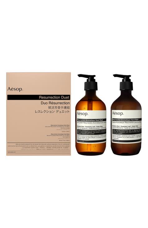 이솝 리저렉션 아로마틱 핸드워시 & 핸드밤 듀엣 세트 (대용량 500ml x 2) Aesop Resurrection Aromatique Hand Wash & Hand Balm Duet