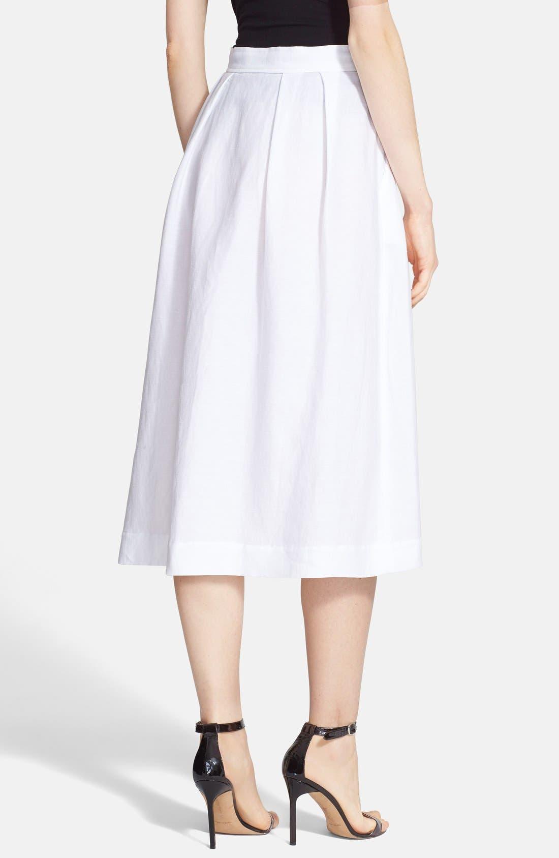 Alternate Image 2  - Milly Button Front Linen Midi Skirt