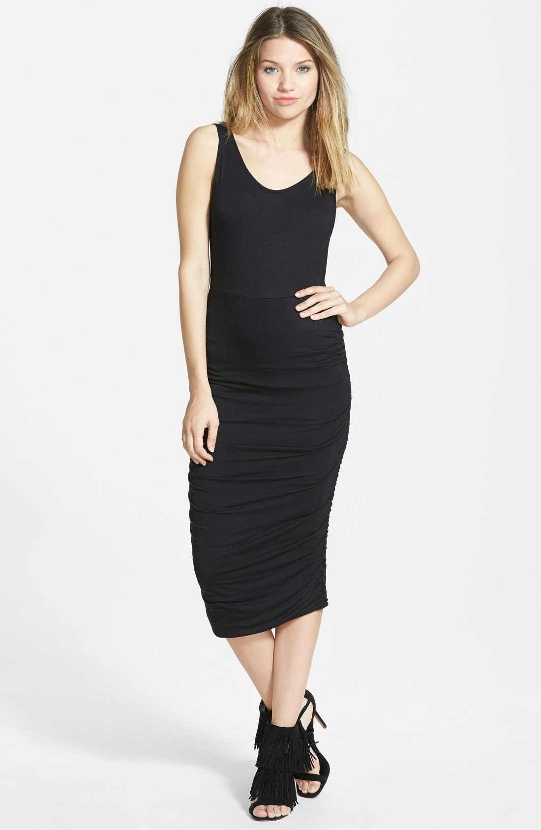 Alternate Image 1 Selected - Leith Ruched Tank Dress
