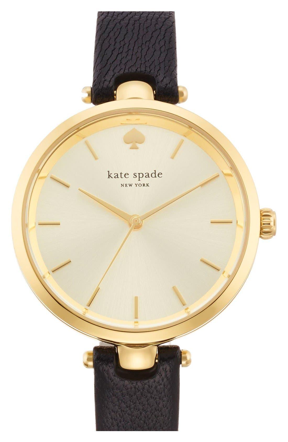 KATE SPADE NEW YORK 'holland' round watch, 34mm