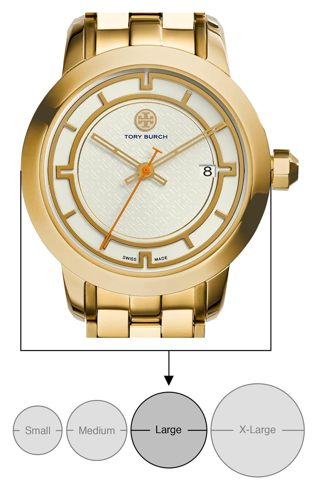 Alternate Image 7  - Tory Burch 'Tory' Large Round Bracelet Watch, 37mm