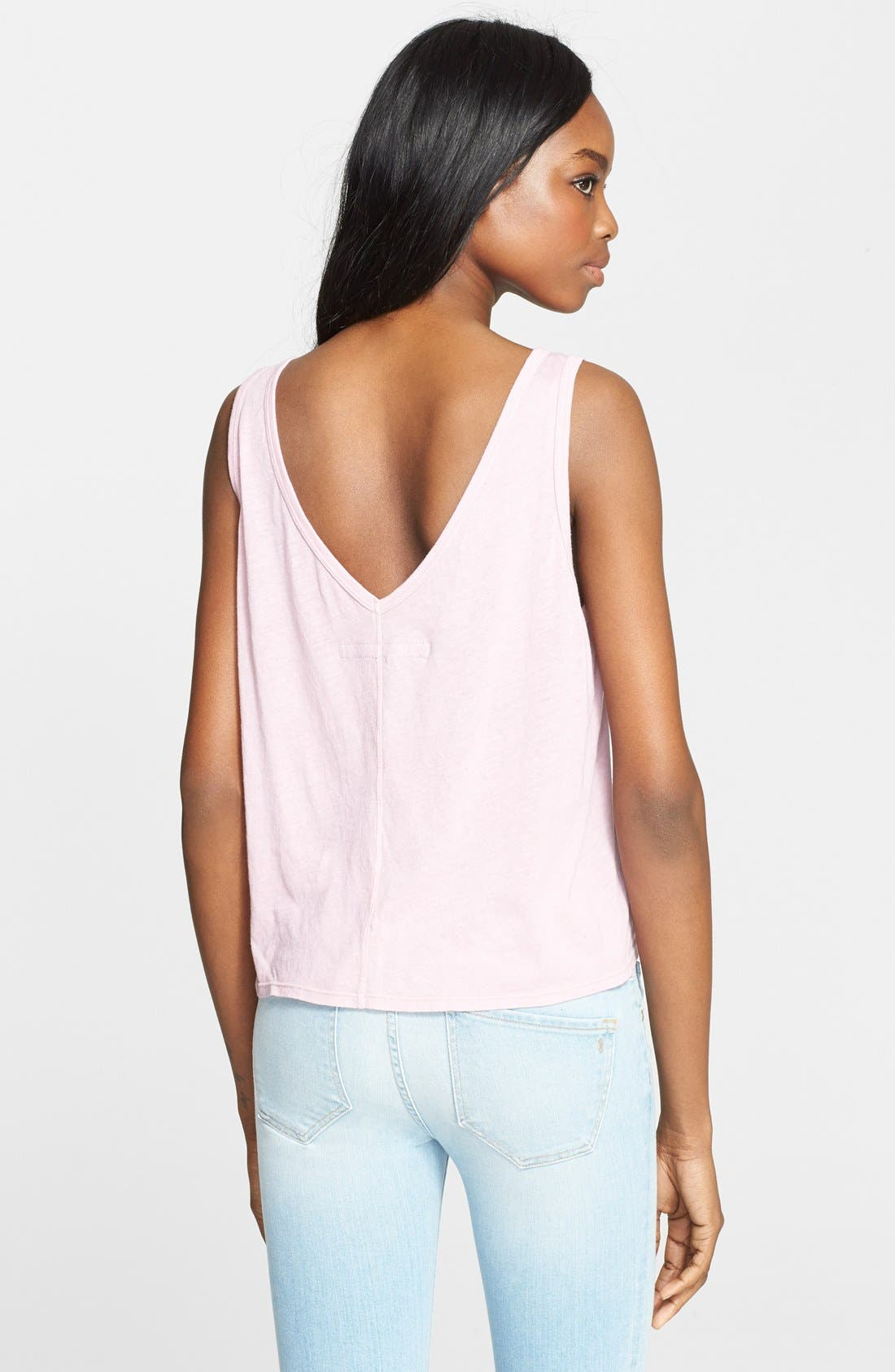 Alternate Image 2  - Enza Costa Scoop Back Tissue Jersey Tank