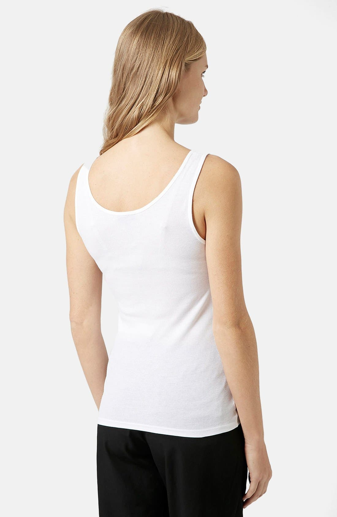 Alternate Image 3  - Topshop 'Alice' Ribbed Maternity Tank