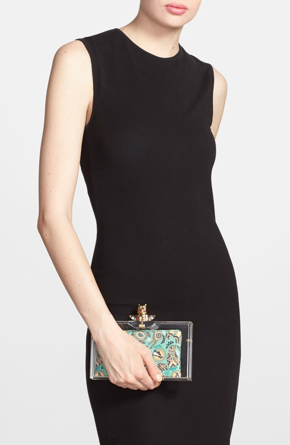 Alternate Image 2  - Charlotte Olympia 'Pandora' Clutch with Zip Pouches