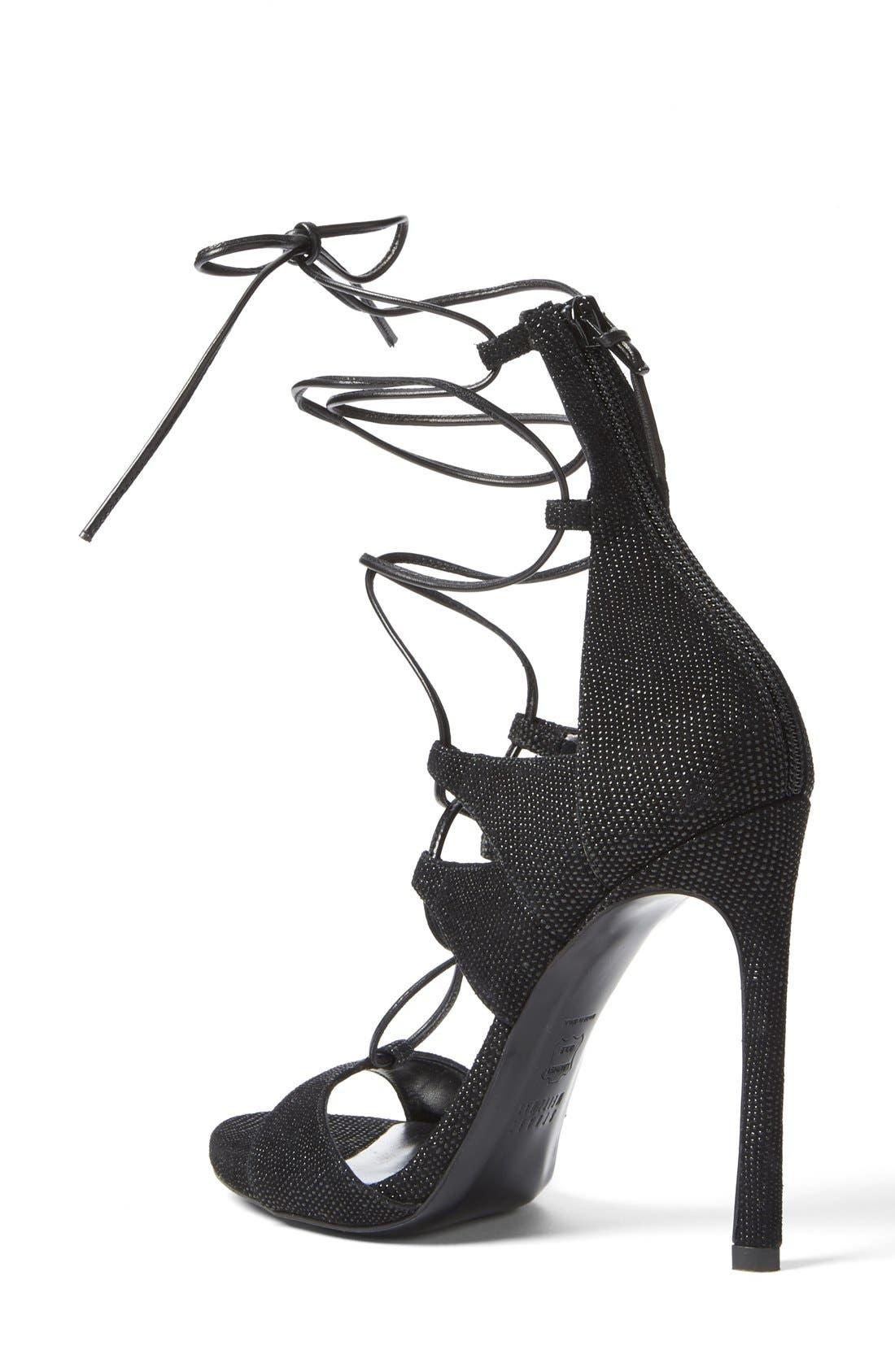 Alternate Image 2  - Stuart Weitzman Leg Wrap High Dress Sandal (Women)