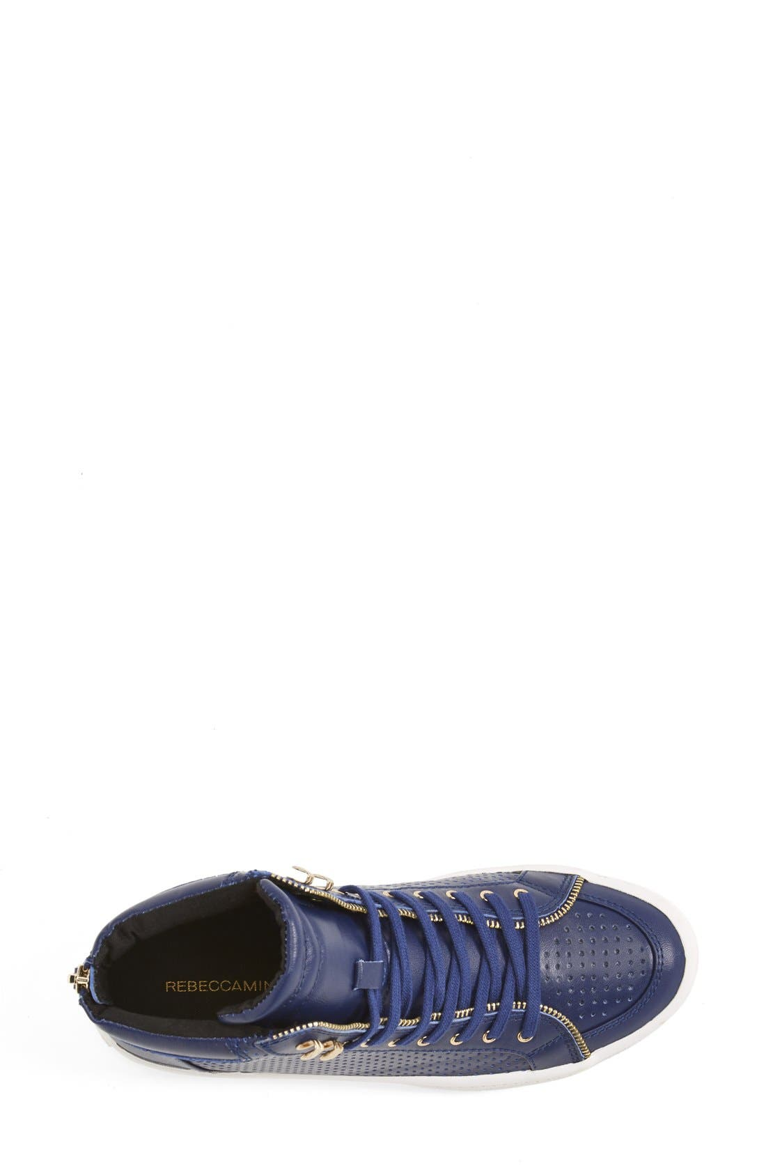 Alternate Image 3  - Rebecca Minkoff 'Sandi' Perforated & Quilted Leather High Top Sneaker (Women)