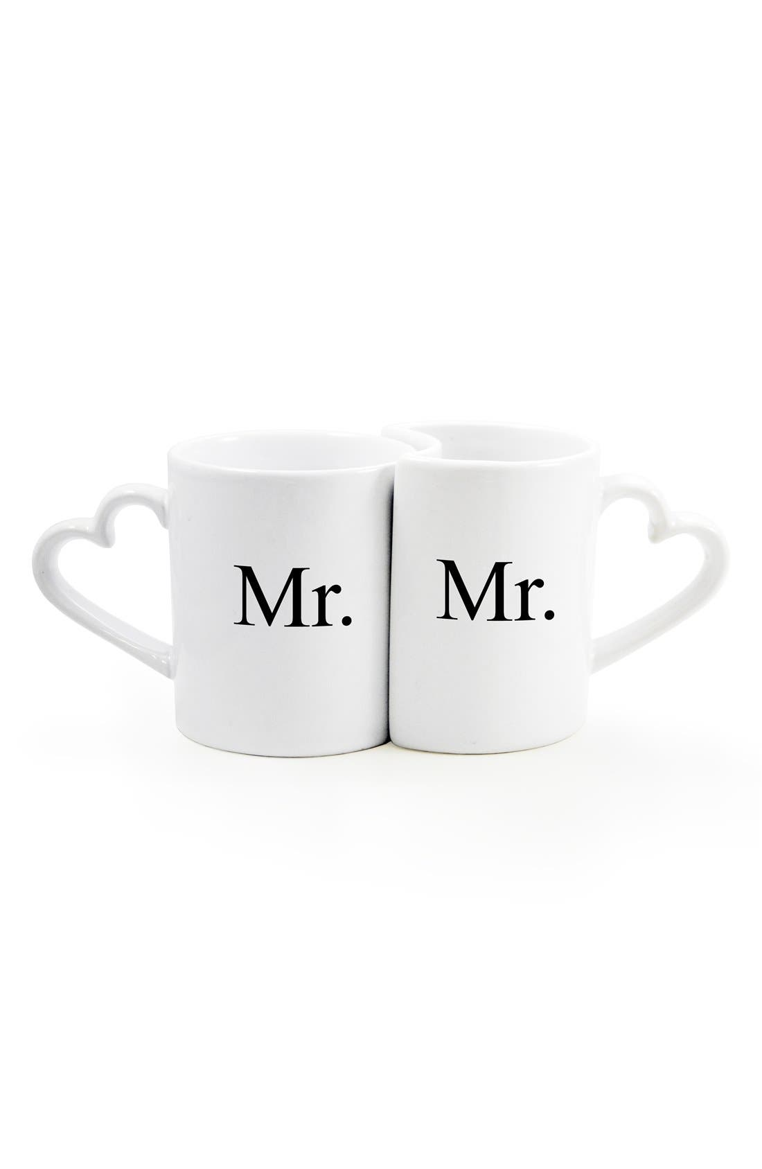 Alternate Image 2  - Cathy's Concepts 'For the Couple' Ceramic Coffee Mugs (Set of 2)