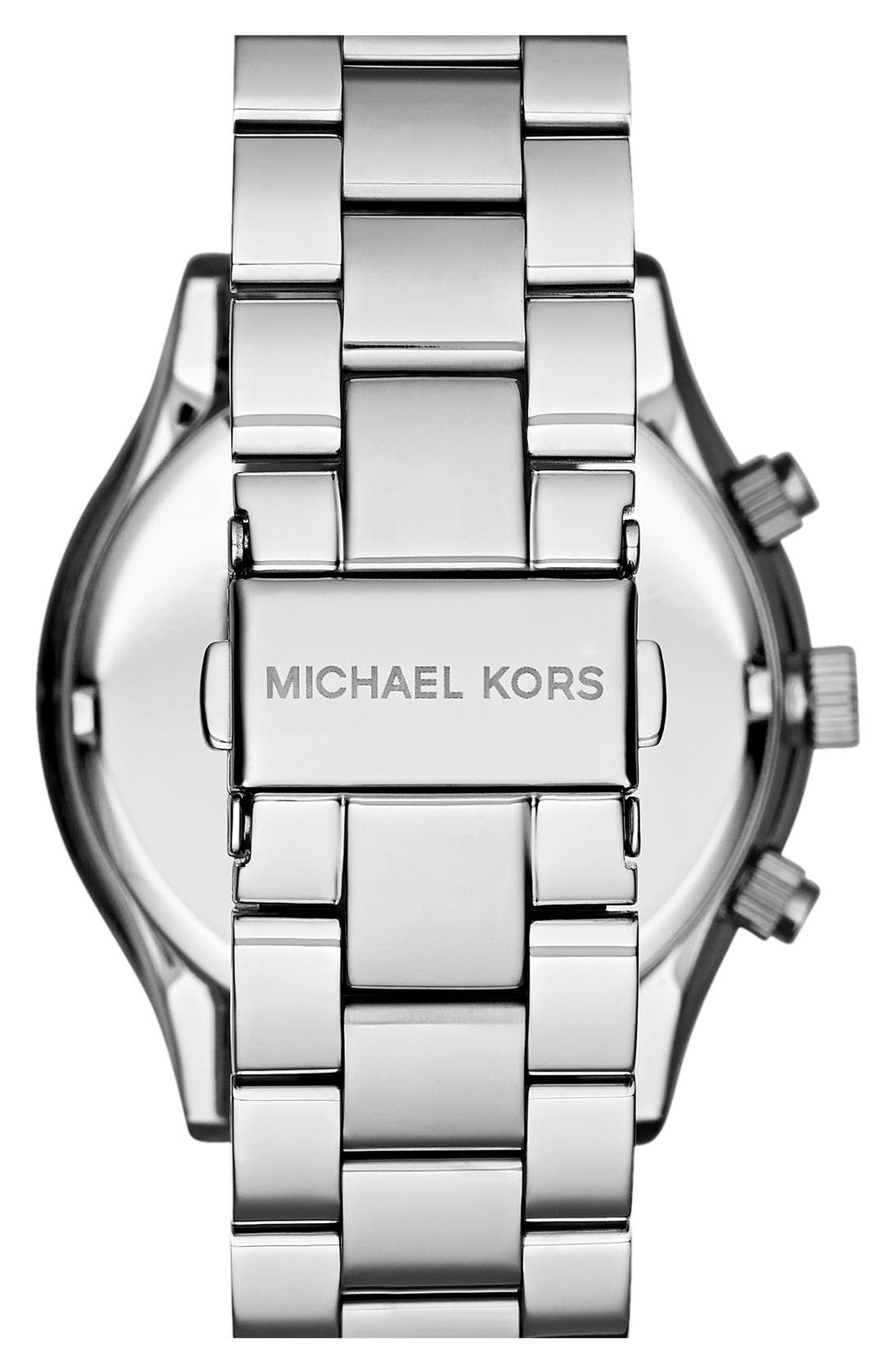 Alternate Image 2  - Michael Kors 'Slim Runway' Crystal Bezel Chronograph Bracelet Watch, 42mm (Nordstrom Exclusive)