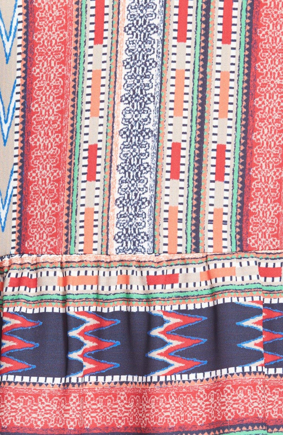 Alternate Image 3  - Coco & Jameson Print Peplum Camisole (Juniors)