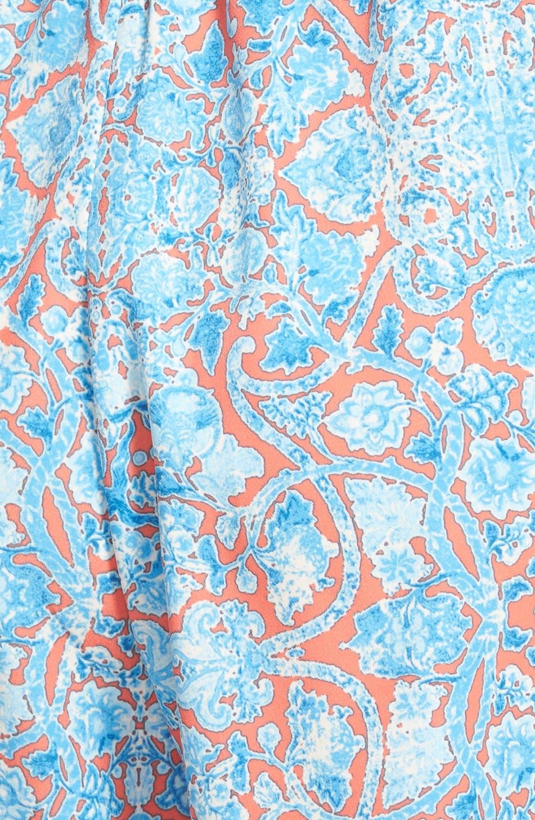 Alternate Image 3  - Zoe and Rose Print Strapless Romper