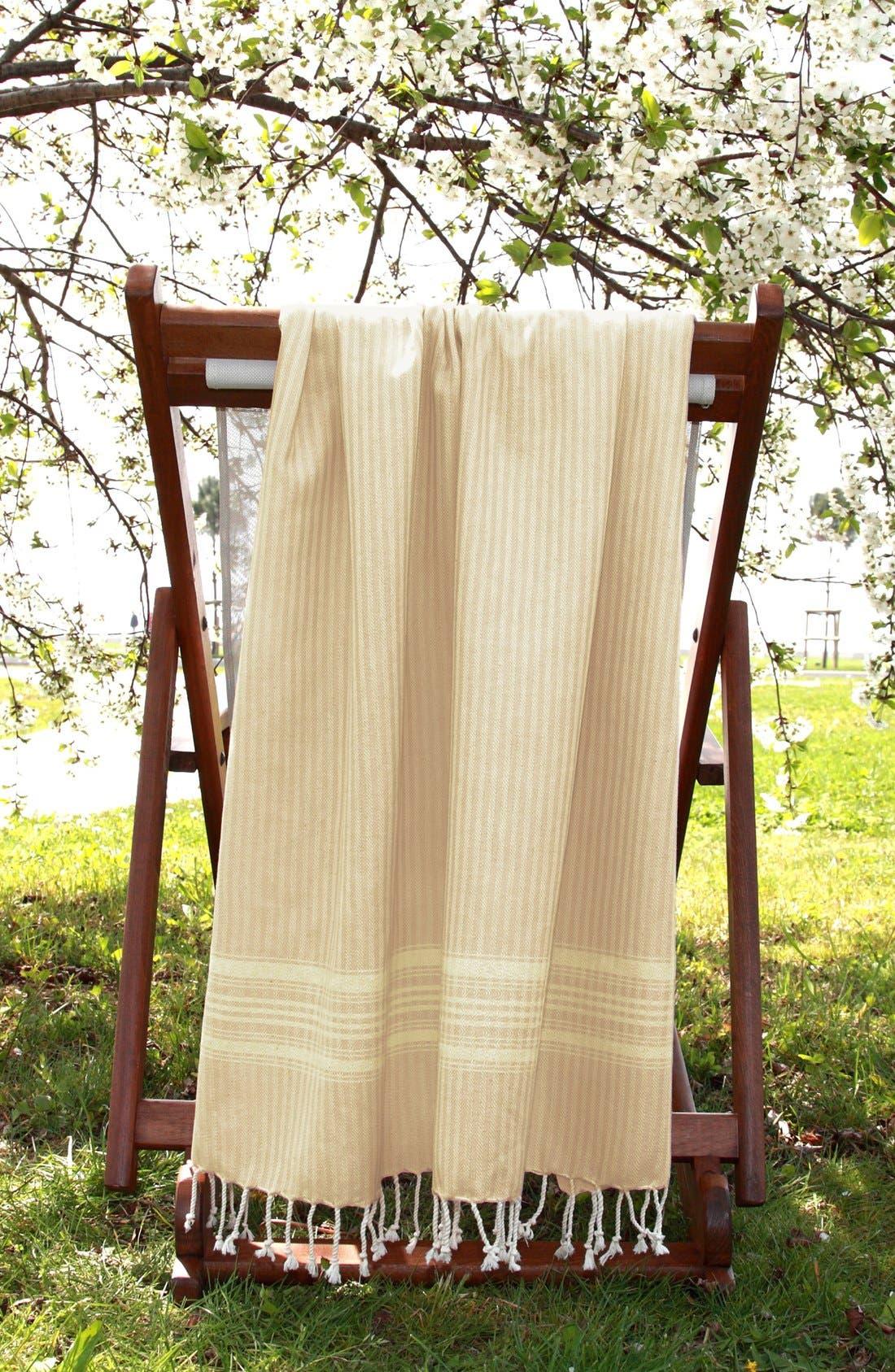 Linum Home Textiles 'Luxe Herringbone' Turkish Pestemal Towel