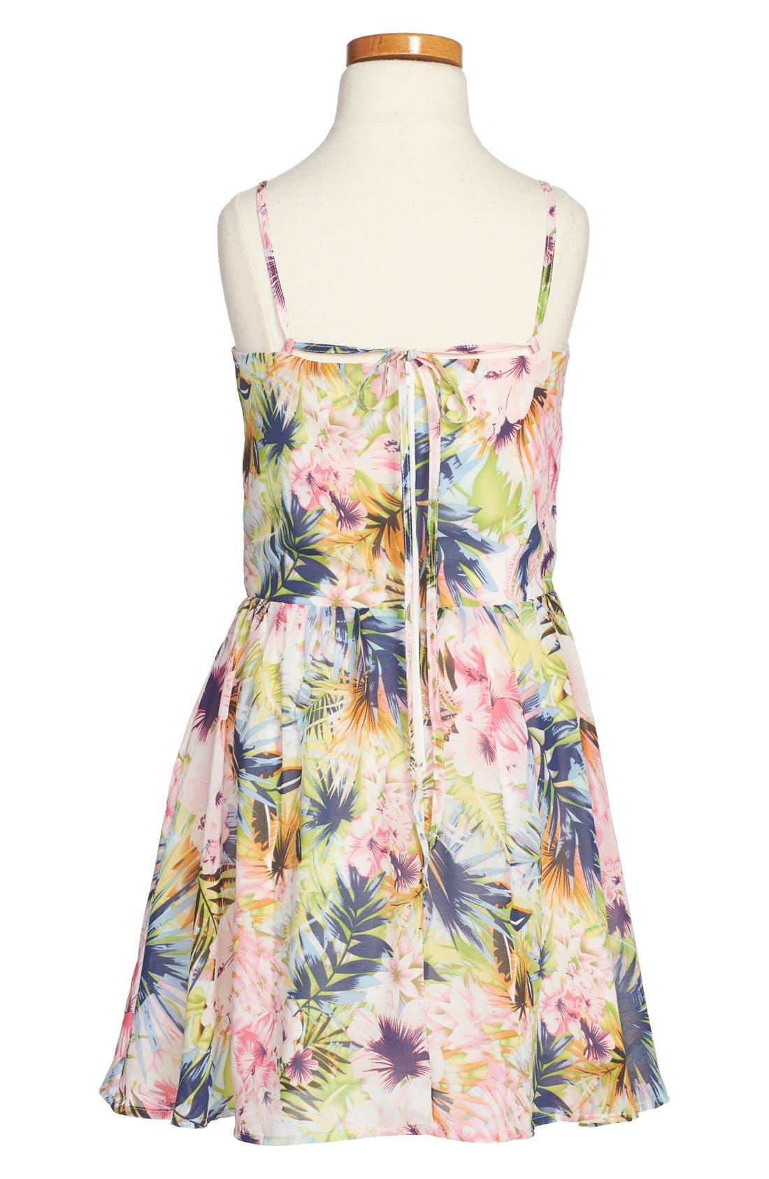 Alternate Image 2  - Miss Behave 'Laurie' Floral Print Sleeveless Dress (Big Girls)