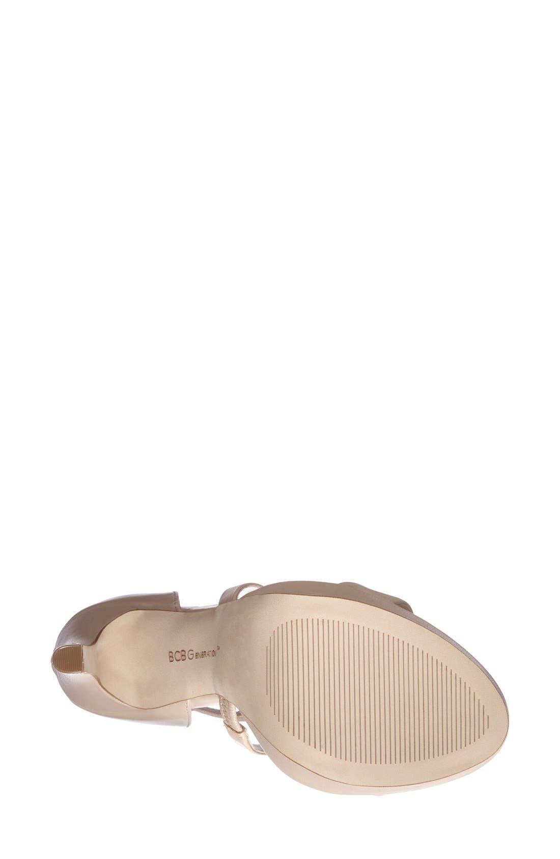 Alternate Image 4  - BCBGeneration 'Gidget' Leather Platform Sandal (Women)