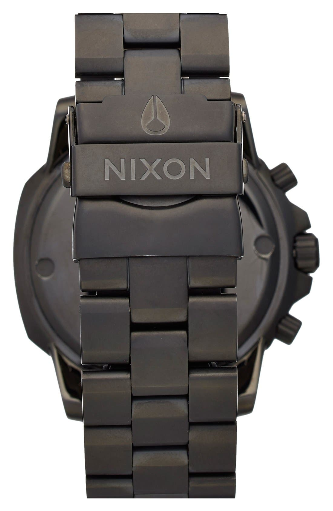 Alternate Image 2  - Nixon 'Ranger' Chronograph Bracelet Watch, 44mm