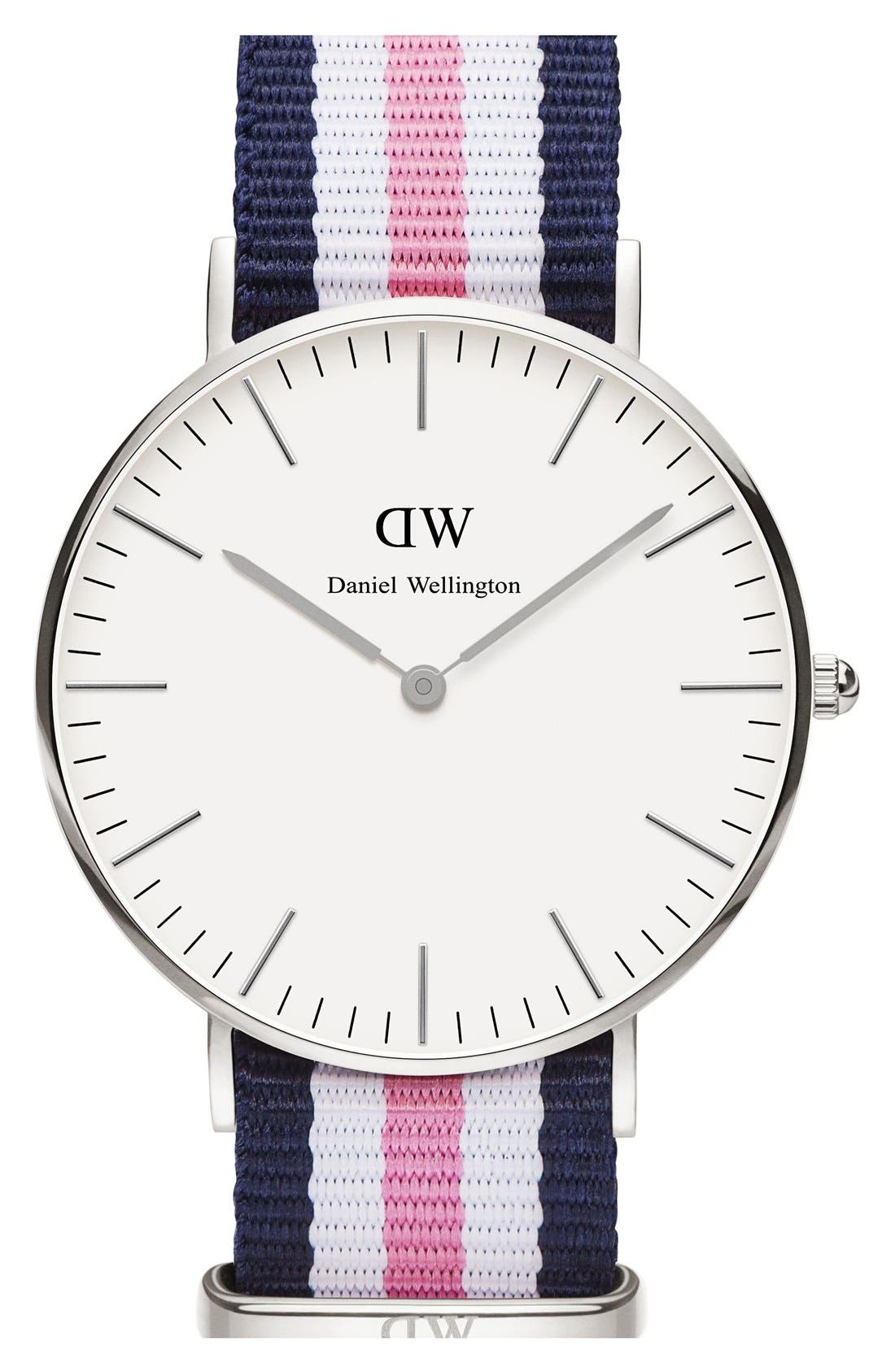 Alternate Image 1 Selected - Daniel Wellington 'Classic Southampton' NATO Strap Watch, 36mm