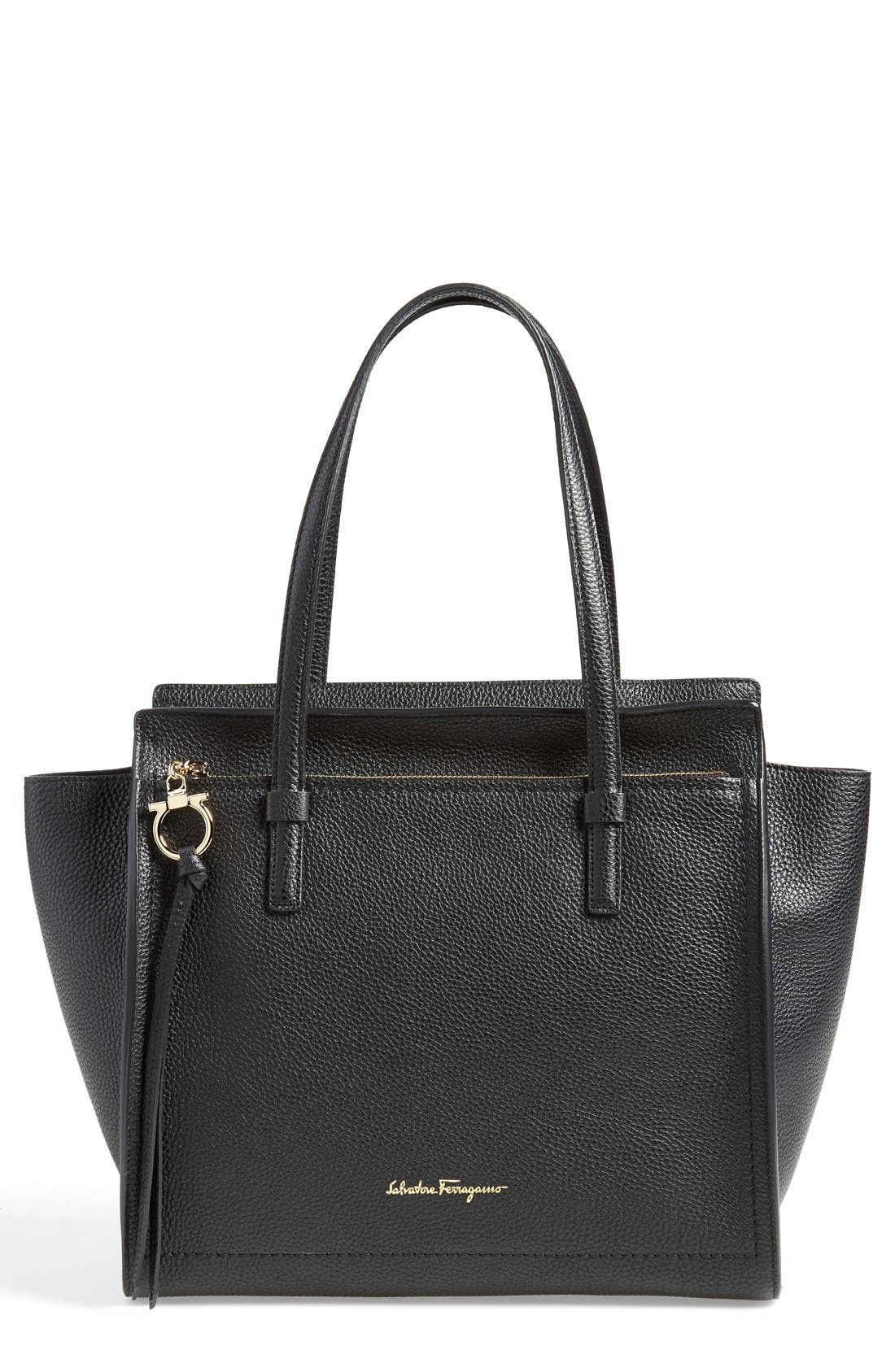SALVATORE FERRAGAMO 'Small Amy' Calfskin Tote