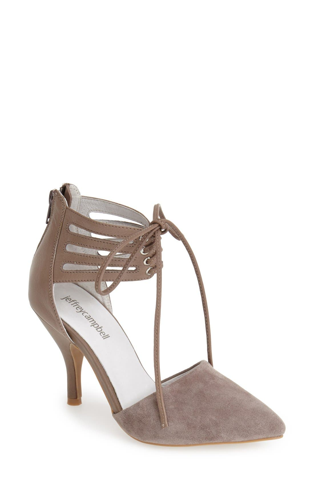 Alternate Image 1 Selected - Jeffrey Campbell 'Picabo' Lace-Up Pump (Women)