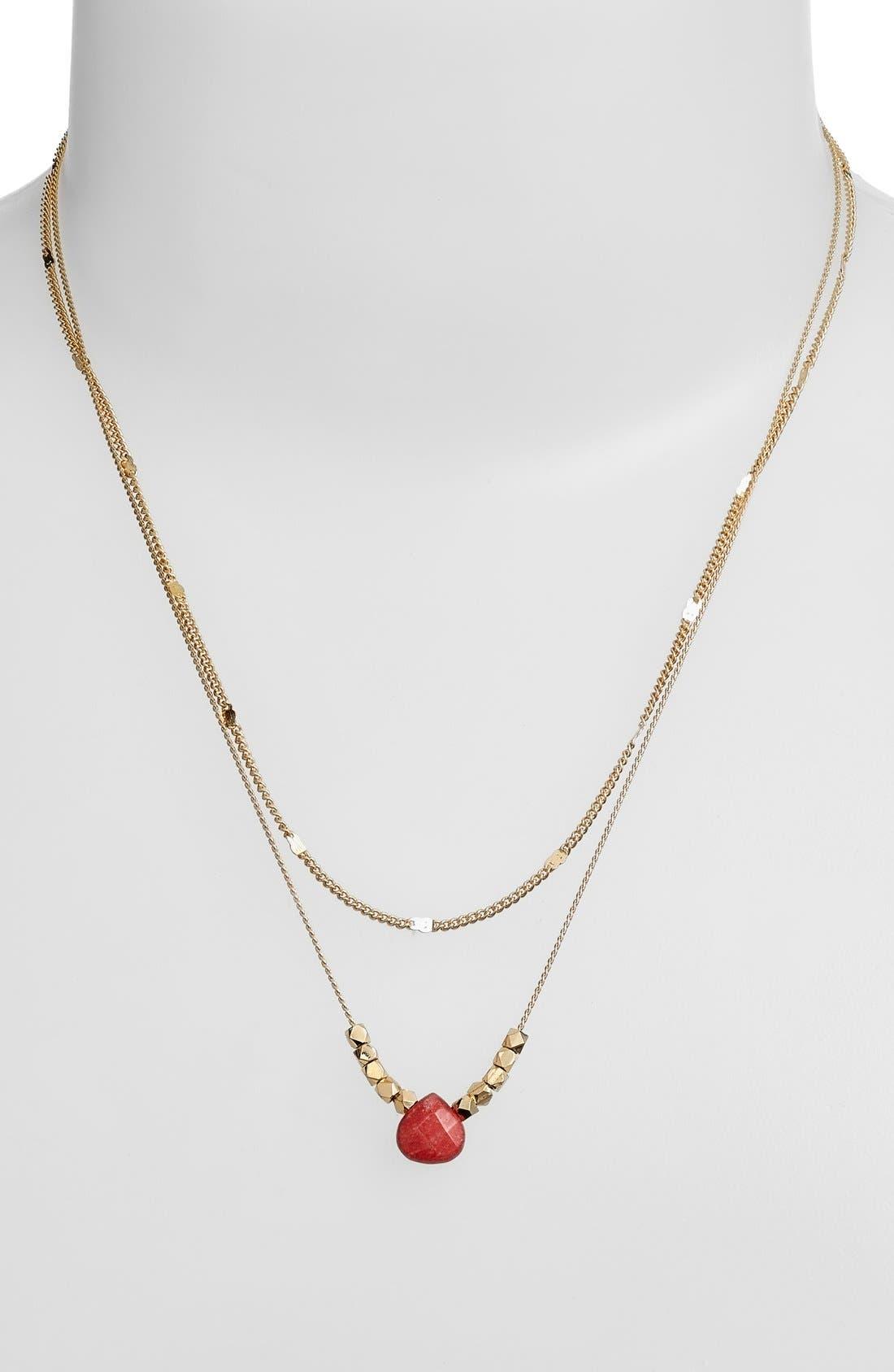Alternate Image 2  - Nordstrom 2-Row Pendant Necklace