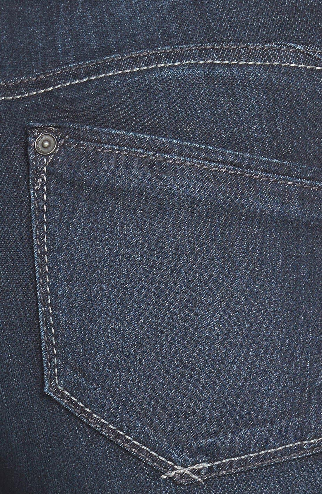 Alternate Image 4  - Wit & Wisdom Super Smooth Stretch Denim Skinny Jeans (Dark Navy) (Regular & Petite) (Nordstrom Exclusive)