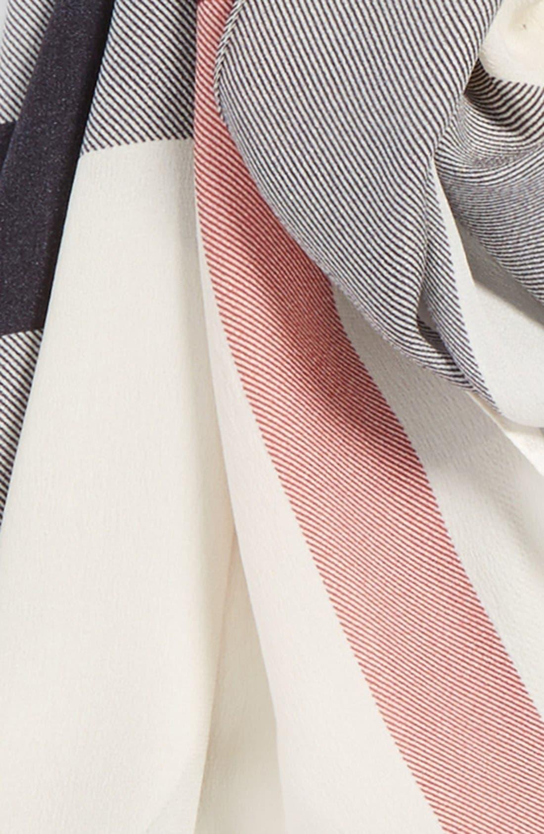 Alternate Image 3  - Burberry Check Print Silk Scarf
