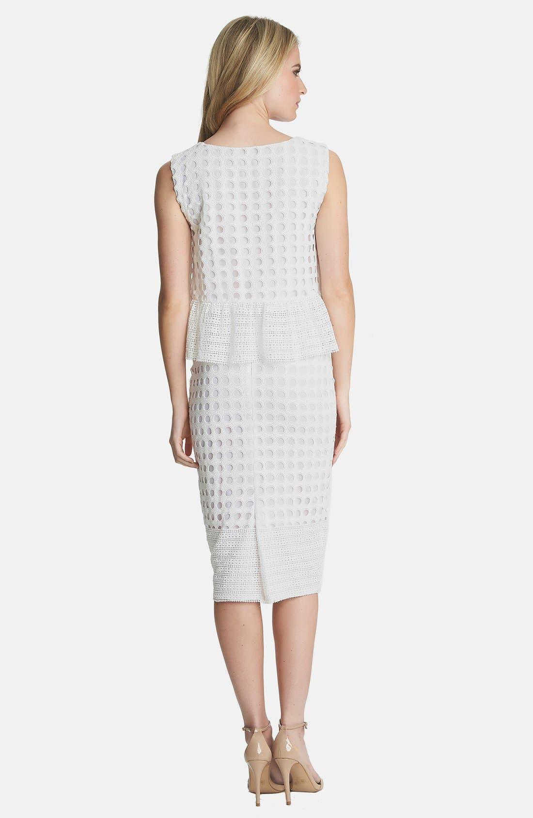 Alternate Image 2  - 1.STATE Geo Lace Midi Skirt